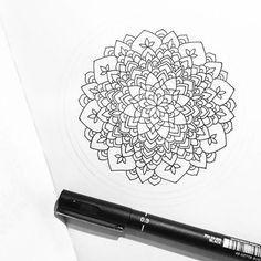 Little one in progress 🌟🖤 #wip #art #blackandwhite #black #white #artwork #instaart #iblackwork #mandala #mandalaart #zentangle #doodle #unipin #drawing #illustration #artist #pen #mandalas #mandalala #heymandalas #beautiful_mandala #mandalamaze #coloring_masterpieces #design #doodleart #details #zen_dala #mandala_sharing #zenart #blxckmandalas Wip, Mandala Art, Doodle Art, Zentangle, My Arts, Photo And Video, Drawing, Tattoos, Illustration