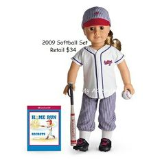 American Girl Doll 2009 Softball Set