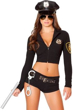 Clothing, Shoes & Accessories Costumes Adaptable Sexy Police Woman Costume Ladies Officer Rita Dem Rights Lady Cop Uniform Womens