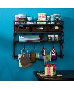 Southern Enterprises Black Wall Mount Craft Storage Rack | Daily deals for moms, babies and kids