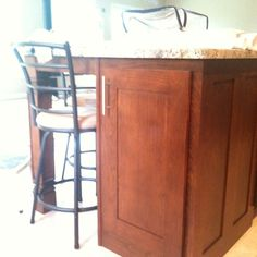 Cherry Wood Kitchen w/ Library Oak  Stain Color