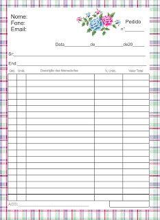 Folhas de pedido e orçamento - Graça Layouts Design ,personalização e criação arte digital