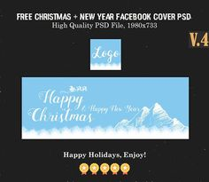 Free Christmas & New Year Facebook Covers Ver. 4 is Fully editable and all layers are Organized in PSD Template. Easy to edit. via @creativetacos Creative Facebook Cover, Facebook Timeline Covers, Happy New Year Facebook, Photoshop Tutorial, Adobe Photoshop, Psd Templates, Christmas And New Year, Creative Design, Project Free