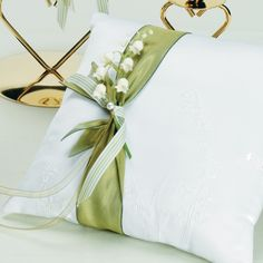 Lily of the Valley Ring Pillow