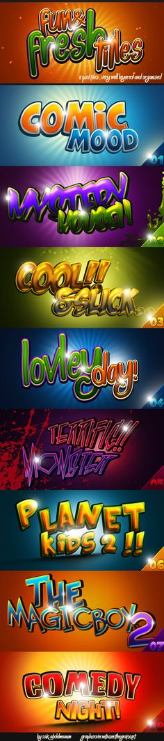 Photoshop Styles to add a cool fresh comic feel to your designs.