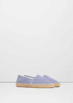 Espadrilles coton à rayures - Chaussures pour Femme   MANGO France
