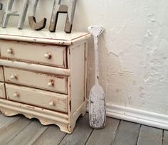Shabby Chic 1 Small Oar / Paddle Nautical Beach Cottage Decor Dollhouse Miniature 1/12 One Inch Scale by SmallScaleLiving, $8.00