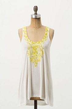 What a perfect tank for spring! The Laced Lineage Tank by Anthropologie.