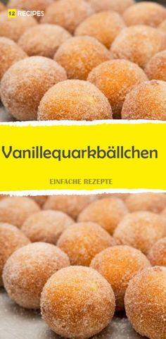 Vanillequarkbällchen 😍 😍 😍 Delicious Desserts, Yummy Food, Camping Desserts, Beignets, Food Blogs, Cornbread, Sweet Recipes, Muffins, Nom Nom