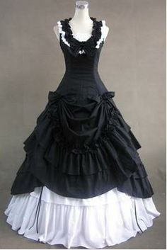 Cheap dresses for attending wedding, Buy Quality dress a pear shaped figure directly from China gown dress Suppliers: Black and White Civil War Southern Belle Lolita Ball Gown Dress Hallowmas Party Dresses 1800s Dresses, Old Dresses, Ball Gown Dresses, Pretty Dresses, Beautiful Dresses, Dress Up, Dress Shirt, Fancy Dress, Bridal Dresses
