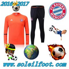 Homme: Nouveau Survetement Du Bayern Munich Orange Saisson 16 17