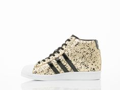 get cheap 399eb 6513c Adidas Originals Superstar Up Womens in Black White Gold at Solestruck.com