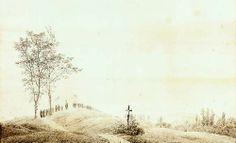 Procession at dawn, Caspar David Friedrich, 1805