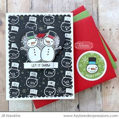 It's Snow Much Fun! More Inspiration with the NEW Frosty Kit! | Taylored Expressions Blog Snowman Cards, Cute Snowman, Snowmen, Cute Cards, Diy Cards, Holiday Cards, Christmas Cards, Snow Much Fun, Birthday Sentiments