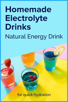 Want to be healthier? Here is how to make a homemade electrolyte drink and get energy naturally! Homemade Electrolyte Drink, Natural Electrolytes, Natural Energy Drinks, Sports Drink, Infused Water, Get Healthy, Frugal, Natural Remedies, Smoothies