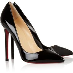 The Pigalle 120 patent-leather pumps ($565) ❤ liked on Polyvore featuring shoes, pumps, heels, sapatos, louboutin, christian louboutin shoes, christian louboutin, patent leather shoes, christian louboutin pumps and patent leather pumps