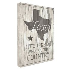Stupell Decor Texas A Whole Other Country Stretched Canvas Wall Art - CW-1329_CN_16X20