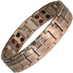 MPS EUROPE Bio 4 Elements Gunmetal Titanium Magnetic Bracelet with Fold-Over Clasp for Men + Free Links Removal Tool Xutck