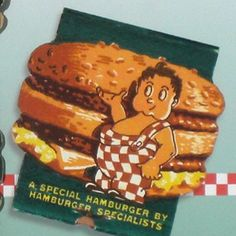 "Bobs Big Boy hamburger vintage ""Feature"" matchbook assemblage 1940s"