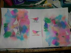 Watercolor with Tissue Paper