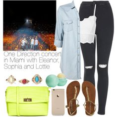 One Direction concert in Miami with Eleanor, Sophia and Lottie by welove1 on Polyvore featuring Topshop and ASOS