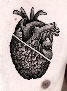 A heart/brain tattoo sounds totally appropriate for me Brain Tattoo, Mädchen Tattoo, Piercing Tattoo, Piercings, Body Piercing, Armband Tattoo, Neue Tattoos, Body Art Tattoos, Sleeve Tattoos