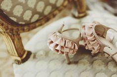 so pretty, mini ruffled pink and gold