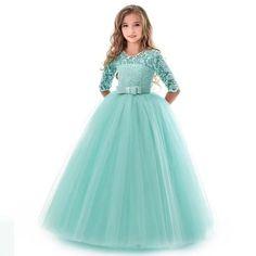 Dress Flower, Wedding Flower Girl Dresses, Lace Party Dresses, Elegant Dresses, Flower Girls, Prom Dresses, Dress Wedding, Lace Wedding, Elegant Wedding