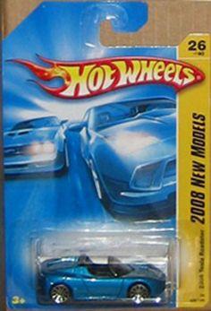 Hot Wheels 2008-026 New Models '08 Tesla Roadster BLUE 1:64 Scale by Mattel. $24.44. Value collector find. Detailed Diecast. Scale 1/64. Hot Wheels '08 Tesla Roadster Blue 10 spoke #26 Collector 2008 1/64