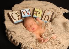 PHOTO PROP Baby Name Block Alphabet Letters  Baby by auntjjsattic, $6.00