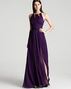Gown Boat Neck Beaded - Lyst