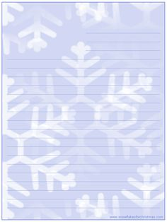 FREE Printable Christmas Snowflake Stationery