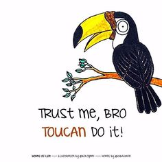 #WordsOfLife is me and @iqbalhape listening to life creatures telling us many things. This is how Toucan being a supportive friend This is #WordsOfLife #art #artist #design #words #illustration #drawing #doodle #animal #bird #Toucan #fun #pun #science #biology #biologeek
