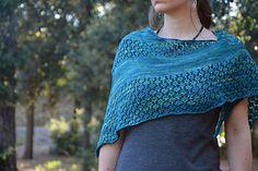 Hira Shawl - A simple, easy to make, yet stylish lace shawl | Chameli Design