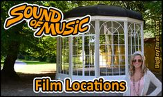 Tour the Sound of Music Movie Locations in Salzburg Austria. Free do it yourself, printable walking tours film maps. Top Ten self guided Sound of Music sights that are best to see by bike, bus and walking in Salzburg. Gazebo Pavilion Location, dwarf statues, horse fountain, wedding church, do re mi singing spots from the SOM movie. Getting to the Sound of Music Julie Andrews' Meadow and the Von Trapp family mansion home location.