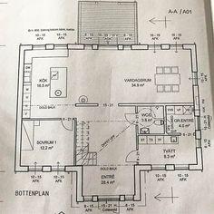 Planritning bottenplan #spoven#fiskarhedenvillan#fiskarheden#bygganytt2017 #husprojekt #bygganytt2017#husdröm#drömhus#drömvillan#hem#familj#planritning#öppenplanlösning #planlösning#bottenplan