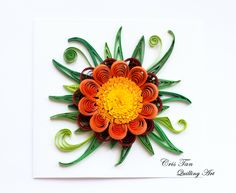 quilling flower, card, Cris Tan