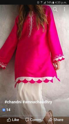 Salwar Designs, Tunic Designs, Kurta Designs Women, Kurti Designs Party Wear, Plain Kurti Designs, Kurti Sleeves Design, Kurta Neck Design, Sleeves Designs For Dresses, Dress Neck Designs