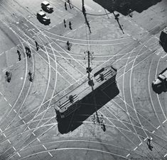 Example of Birds Eye View:  Max Duplain, (1911 - 1992) Tram Abstraction, 1930s