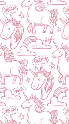 Unicorn Inspired Clothing, Fashion Trends, Accessories, Party Supplies, Gift Items And More Affiliate Unicornios Wallpaper, Pattern Wallpaper, Wallpaper Backgrounds, Unicorn Art, Rainbow Unicorn, Rosas Vector, Unicorns And Mermaids, Unicorn Pattern, Cute Wallpapers