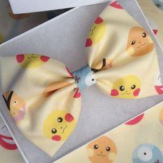 Pokemon pikachu Dot Fabric hair bow Or bowtie clip Pokemon pikachu Dot Fabric hair bow Or bowtie clip handmade by me Accessories Hair Accessories