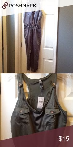 Drawstring Jumpsuit Olive green or gray jumpsuit Other