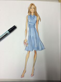 Finished Illustration for Eva Mendes Collection by New York and Company (Renaldo Barnette)