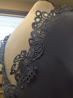 Detailing is a labor of love for Ella Pritsker. She crafts each and every swirl, every flower, every bead, every sparkle to be just right for the garment.      #dresses #fashion #embroidery #modestfashion #detailing #hardwork #fashiondesigner #weddingattire #weddingideas #couturier #customclothing #tailormade #handmadeclothing