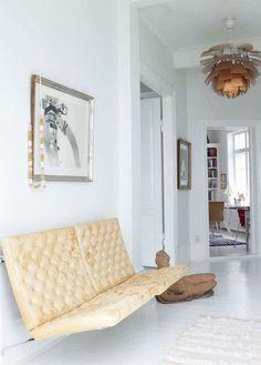 Source: SFgirlbybay Amazing! They look like wall mounted Barcelona chairs! and thatArtichoke pendant lightis a classic.