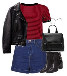 """""""Başlıksız #1248"""" by zeynep-yagmur ❤ liked on Polyvore featuring Ray-Ban, Topshop, Yves Saint Laurent and Givenchy"""