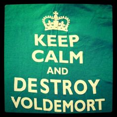"""The clever """"Keep Calm and Destroy Voldemort"""" is printed on mint green American Apparel V-Neck. So, do you want/NEED this amazing shirt? Contact whitakus @ yahoo .com for more information and REPIN REPIN REPIN!"""