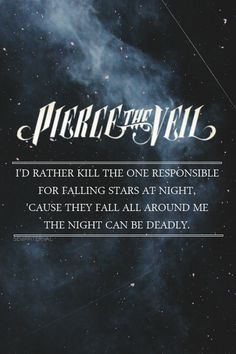 I Don't Care If You're Contagious, Pierce The Veil