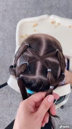 Easy Toddler Hairstyles, Super Cute Hairstyles, Easy Little Girl Hairstyles, Girls Hairdos, Cute Little Girl Hairstyles, Baby Girl Hairstyles, Hairstyle For Baby Girl, Hairstyles For Toddlers, Infant Hairstyles