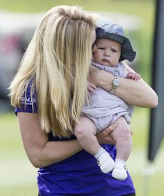 Autumn Phillips relished her time with the four-month-old Mia Phillips daughter of Zara Phillips